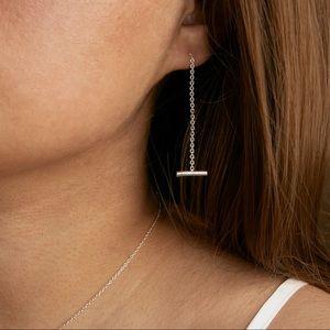 Threader Earrings on Sterling Silver 925 | pair